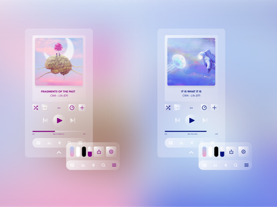 Music Player UI Design musicplayer music app uiux design designtrends uidesigner uidesign uiux ux ui thevisualx glass glassmorphism