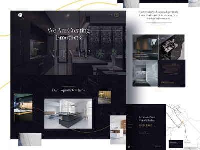 InColor Furniture Website luxury furniture kitchens ux ui website homepage