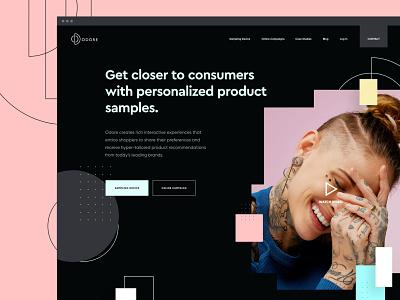 Odore Website Dark Mode product b2b colorful dark perfumes fashion ux web homepage ui