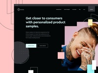 Odore Website Dark Mode colorful dark perfumes fashion ux web homepage ui