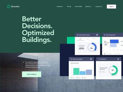 Bractlet - Style Exploration 1 technology property management dashboard homepage website ux ui
