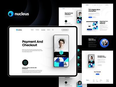 Nucleus - Exploration Pages tech nucleus web design clean simple ai verification login registration payment business b2b saas ux ui website