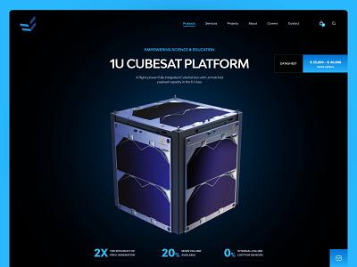 ENDUROSAT Product Page clean black simple space technology nanosat cubesat sattelite ux ui website saas b2b