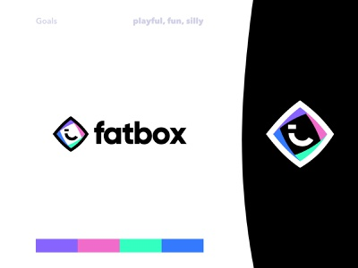Fatbox Logo Exploration v.1 b2c logo mark mockups box packaging logotype branding saas