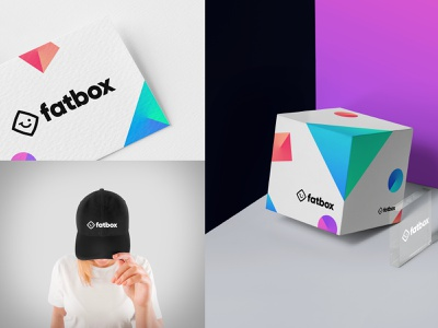 Fatbox Logo Exploration v.4 fun colorfull packaging mark branding logo b2c saas