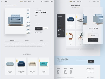 Stile Theme - Products theme stile sofa product furniture ecommerce filter chair bootstrap bigcommerce