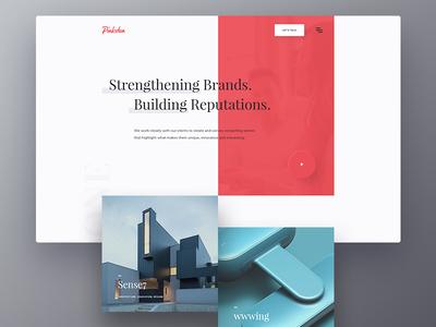 Pinkston Digital Website branding corporate digital agency landing page homepage website web