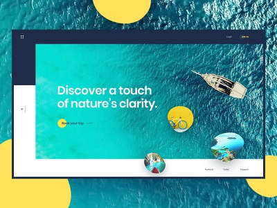 Travel Agency ux ui design places sea website agency vacation travel