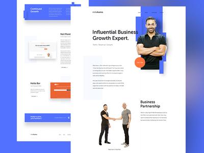 Mike Kamo mobile responsive homepage landing website ux ui seo business