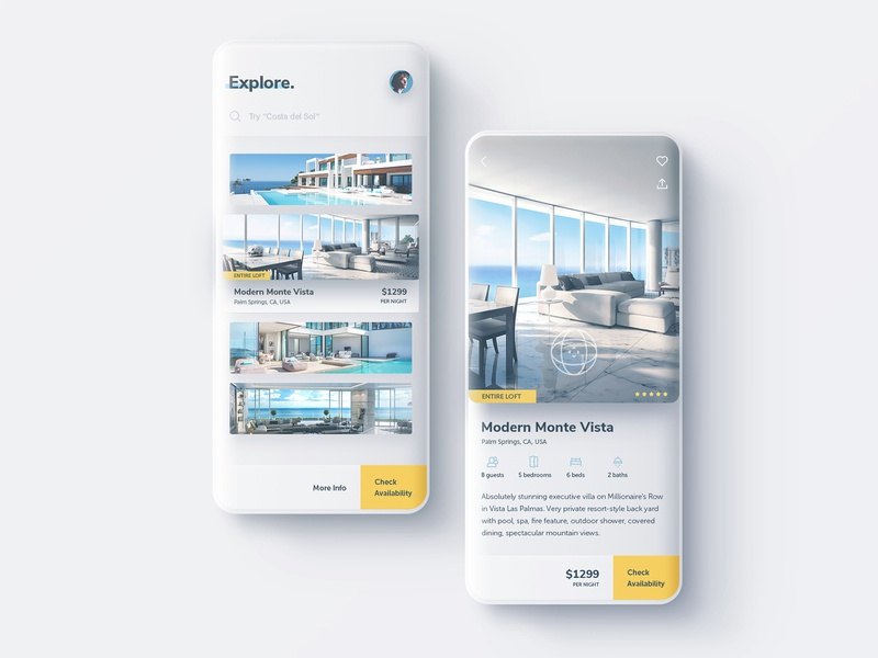Property Rentals App Exploration business e-commerce corporate digital ux ui app rentals property realestate