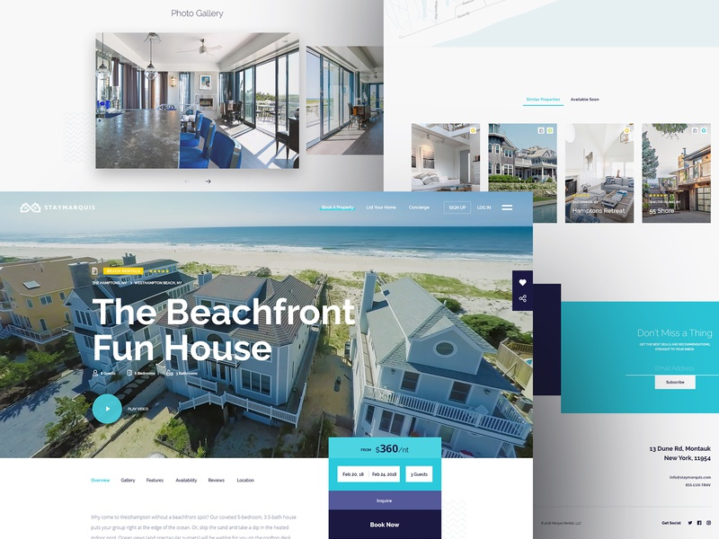 Stay Marquis - Open Property web luxury rentals property digital business ux ui website