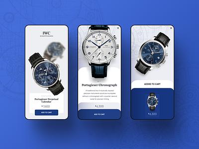 Watch Showroom mobile app shop app mobile ux ui watch