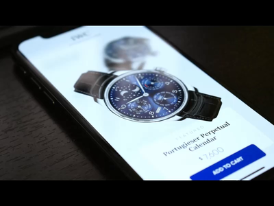 Watch Showroom Mobile App invisionstudio watches animation app mobile ux ui