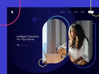 Smart Home Appliances Website v.1 homepage ux ui website appliances smart home