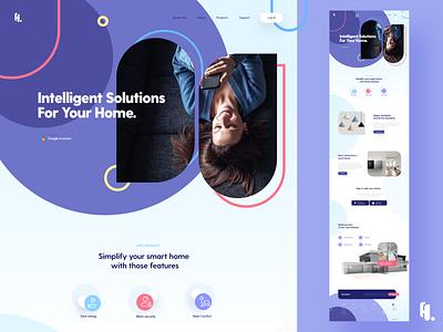 Smart Home Appliances Landing page appliances smart home homepage website ux ui