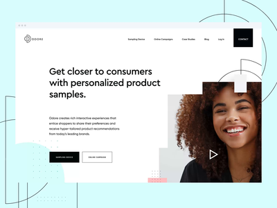 Odore Homepage Animation Concept parfume concept fashion design landing page homepage website web design web odore gif animation