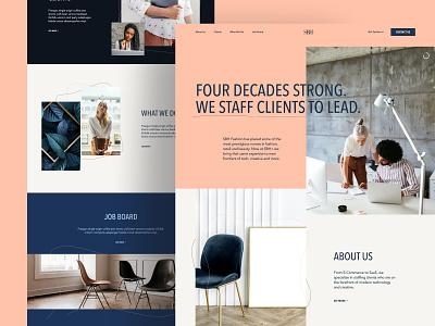 SBH+ Homepage website b2b staffing web design ui ux modern homepage landing page fashion
