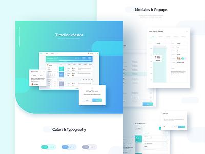 Timeline Master Case Study dentist dental branding web app tool timeline project master management list dashboard app