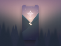 Diamond River iphonex trees adobe xd playoff rain mountains app splash contest icon river diamond