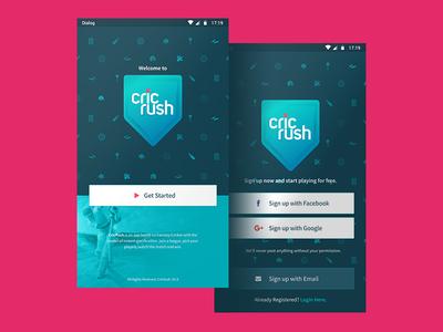 Cricrush Mobile App UI