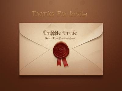 Hello, Dribbble! envelope sealing