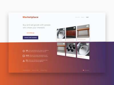 Marketplace Landing page freebie download sketch free marketing website web landing landingpage sales marketplace app