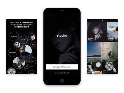 Studiio Intro visual identity brand gv gv sprint ux ui curation film curating video app