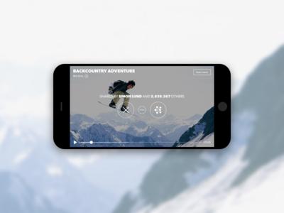 Studiio Video Sharing visual identity brand gv gv sprint ux ui curation film curating video app