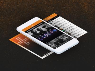 Roskilde Festival App 2017 - Menu, Discover, Profile