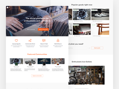 Go Listo Landing Page 01 buttons icons landing page product design web ui