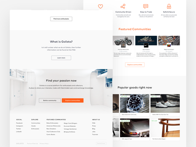 Go Listo Landing Page 02 ui web product design landing page icons buttons