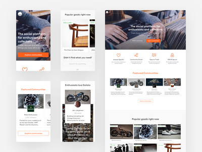 Go Listo Landing Page 03 mobile responsive ui web product design landing page icons buttons
