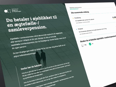 MP Pension Case Submission design landing page website visual identity brand web design web ux ui