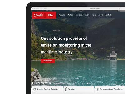 Danfoss IXA Website landing page ux ui design website web design web