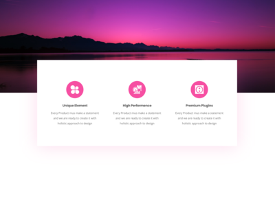 Feature Box | Services | Info Box Element - 10 for Web Templates