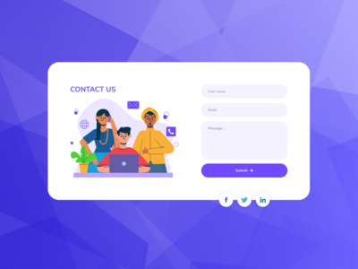 Contact Us | Contact Form Element - 2 for Web Templates