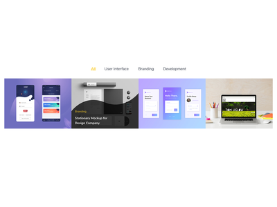 Portfolio Element - 4 for Web Templates