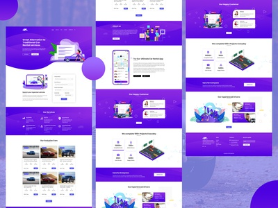 Modern Car Rental Web Template