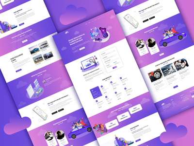 Colorful Car Rental Web Template