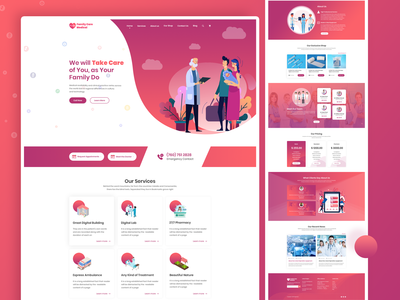 Medical Landing Web Template