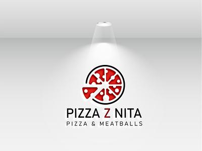Pizza Logo mockup psd animal logo animal illustration icon flat vector minimal logo design branding