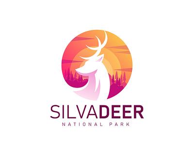 SilvaDeer Logo design mockup psd animal logo animal vector minimal logo illustration flat icon design branding