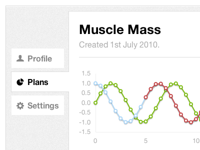 Pretty Graphs graph web app flot
