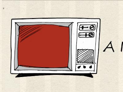 TV! tv television sketch