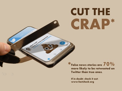 Cut the Crap - PSA Poster