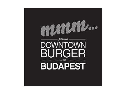 Downtown Burger, Budapest - logo, 2018 logo