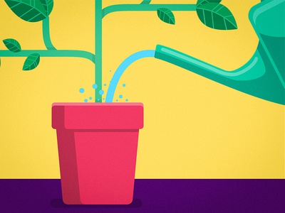 keep hydrated! can watering water pot leaves leaf plant