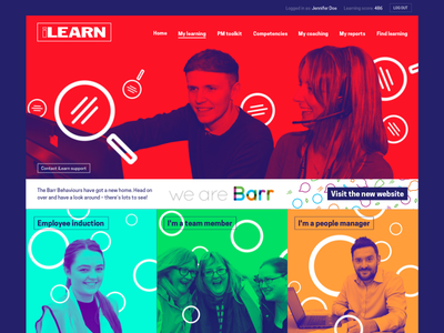 ilearn LMS design refresh fresh bright lms homepage duotone