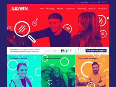 ilearn LMS design refresh fresh bright lms homepage duotone