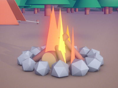 Explain.ly Fire som c4d flames camp camping fire